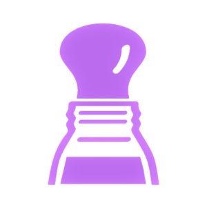 フェイスカラー紫