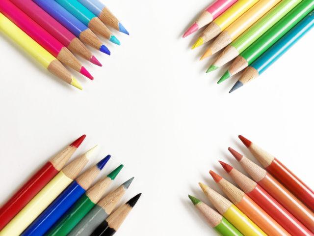 レインボーの鉛筆