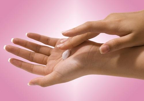 手の平のクリーム